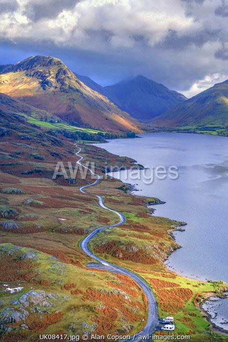 UK, Cumbria, Lake District, Wasdale, Wast Water