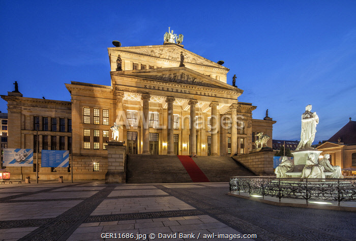 The Konzerthaus Berlin is a concert hall situated on the Gendarmenmarkt square in the central Mitte district of Berlin housing the German orchestra Konzerthausorchester Berlin. It was built as a theatre from 1818 to 1821 and designed by Schinkel.
