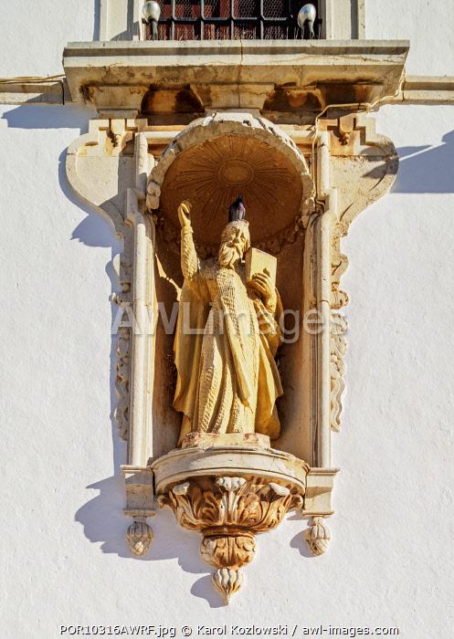 Carmo Church, detailed view, Largo do Carmo, Faro, Algarve, Portugal