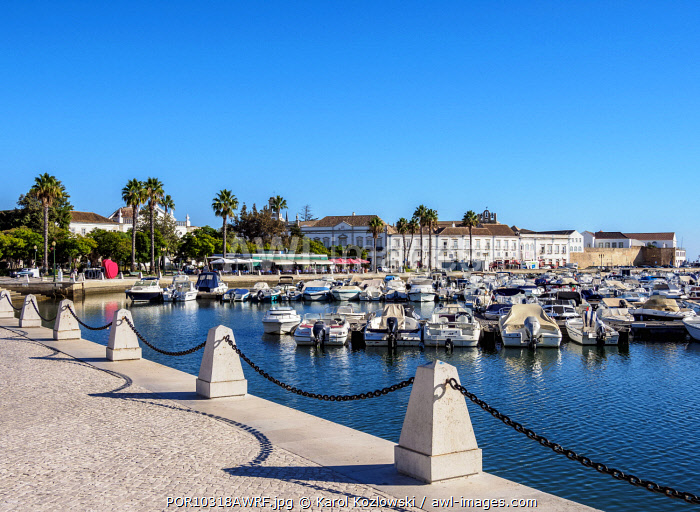 Marina in Faro, Algarve, Portugal