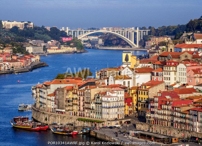 View towards Arrabida Bridge, Porto, Portugal