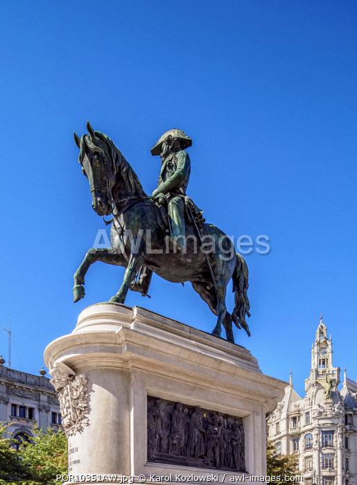 Dom Pedro IV Statue, Praca da Liberdade, Porto, Portugal