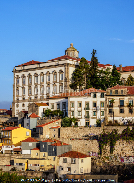 View towards Episcopal Palace, Porto, Portugal