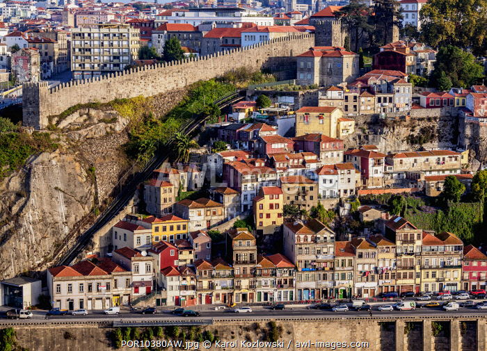 Gustavo Eiffel Avenue, elevated view, Porto, Portugal
