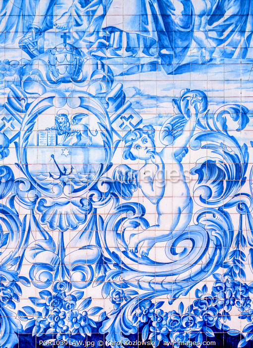 Azulejos at Carmo Church, Porto, Portugal