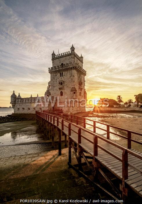 Belem Tower at sunset, Lisbon, Portugal