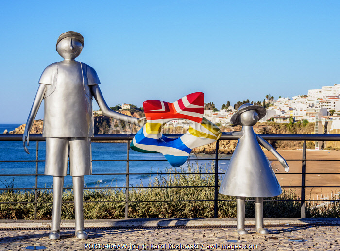 Sculpture in Albufeira, Algarve, Portugal