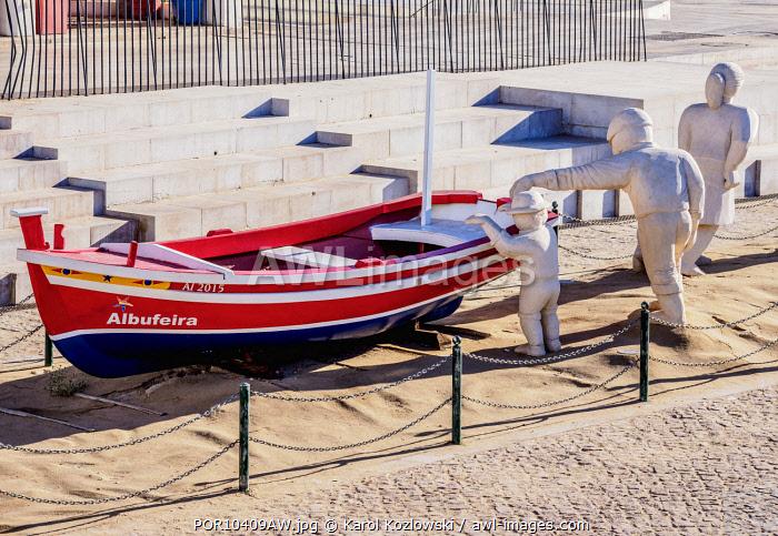 Fishermen Monument, Albufeira, Algarve, Portugal