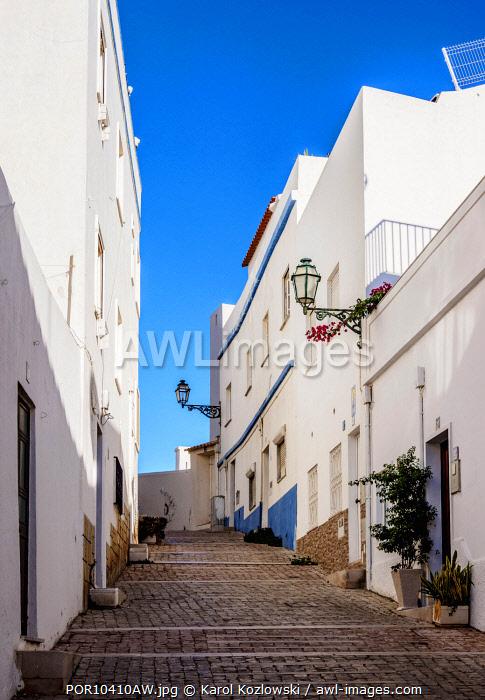 Narrow Lane in Albufeira, Algarve, Portugal