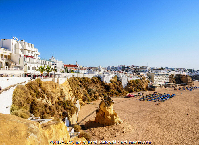 Paneco Beach, elevated view, Albufeira, Algarve, Portugal