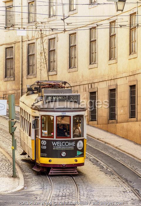 Tram number 28, Lisbon, Portugal