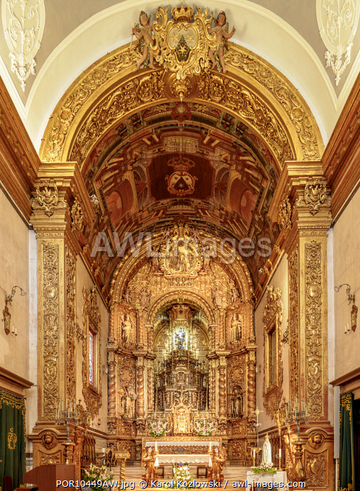 Carmo Church, interior, Faro, Algarve, Portugal