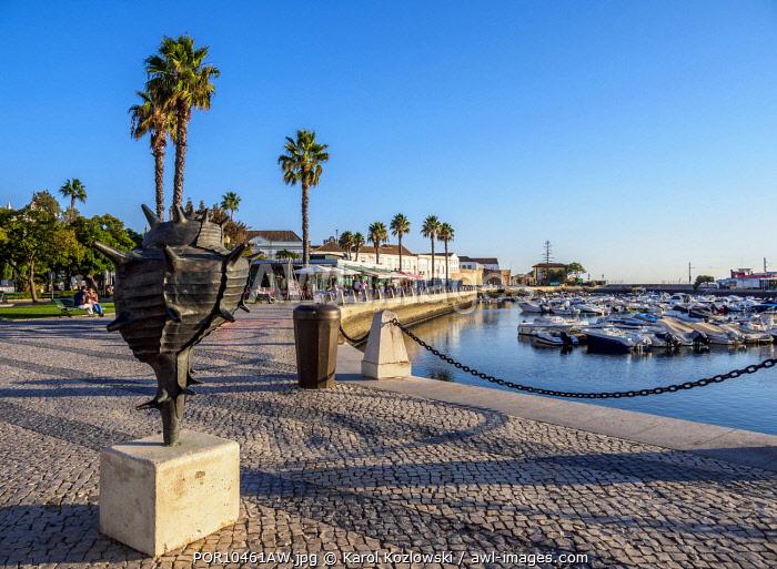 Marina in Faro, Algarve, Portugal