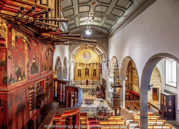 Se Cathedral, interior, Faro, Algarve, Portugal