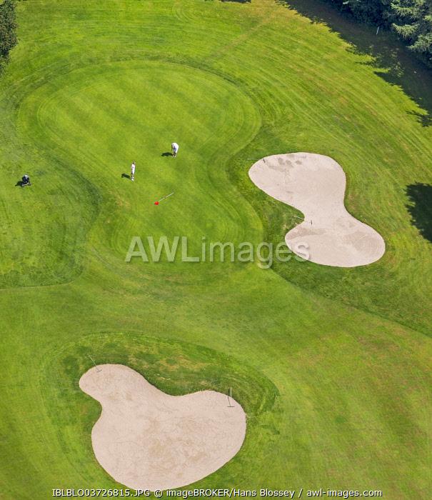 Aerial view, Golfclub Sauerland, Neheim-Hüsten, Arnsberg, North Rhine-Westphalia, Germany, Europe