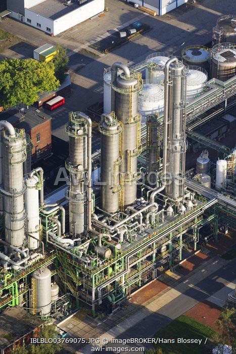 Aerial view, Ineos Phenol chemical plant, Gladbeck, North Rhine-Westphalia, Germany, Europe