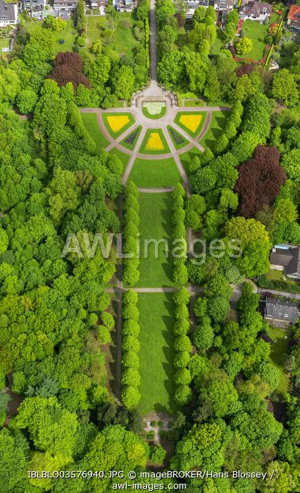 Aerial view, Berger Park, Gelsenkirchen-Buer, Gelsenkirchen, North Rhine-Westphalia, Germany, Europe