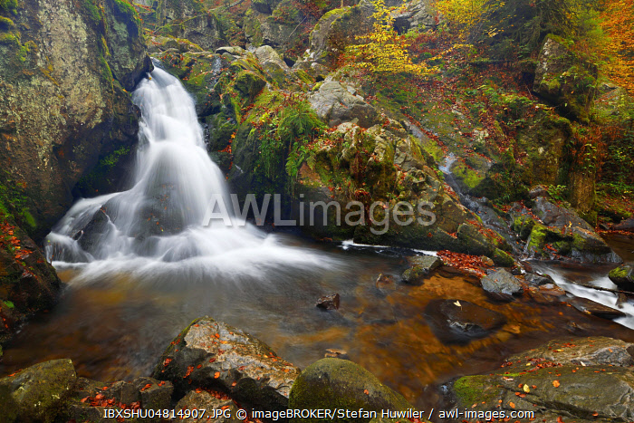 Waterfall, Petit Cascade de Tendon, Vosges, Alsace, France, Europe
