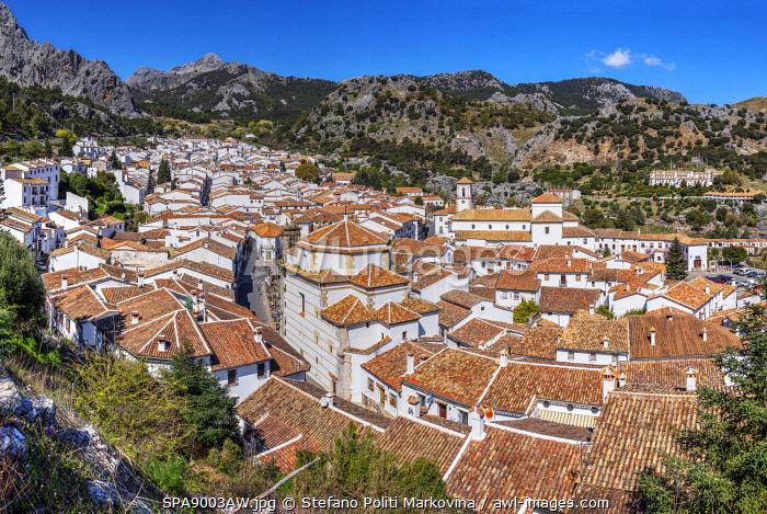 Panoramic view of Grazalema, Andalusia, Spain