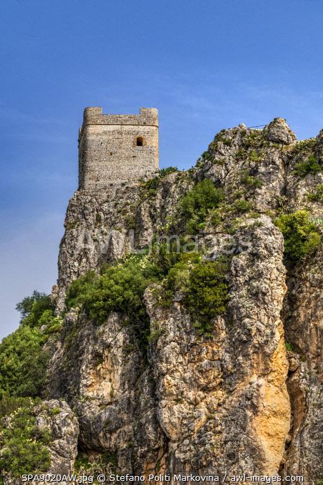 Moorish castle, Zahara de la Sierra, Andalusia, Spain