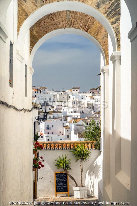 Scenic skyline view of Vejer de la Frontera, Andalusia, Spain