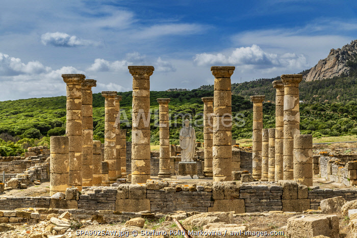The ruins of the ancient Roman town of Baelo Claudia, Bolonia, Andalusia, Spain