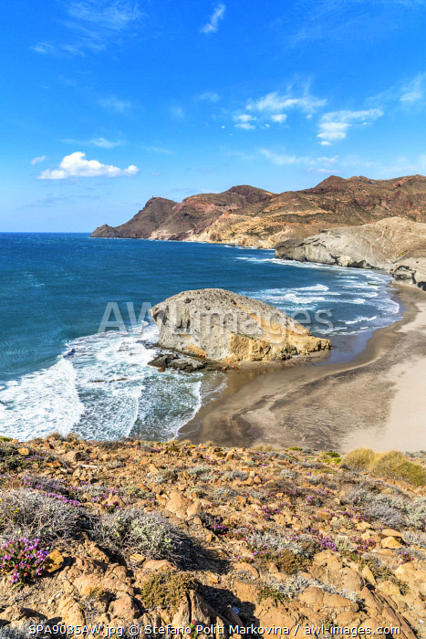 Playa de Monsul, Cabo de Gata, Almeria, Andalusia, Spain