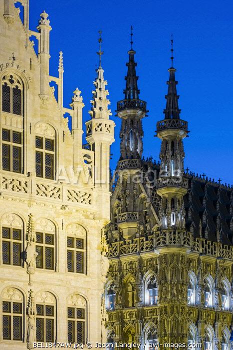 Leuven Stadhuis (City Hall) on Grote Markt, Leuven, Flemish Brabant, Flanders, Belgium