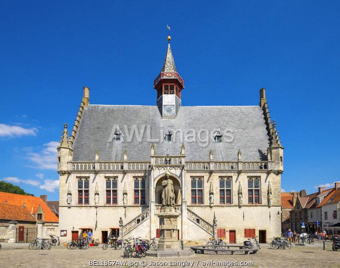Belgium, West Flanders (Vlaanderen), Damme. Stadhuis Damme town hall.