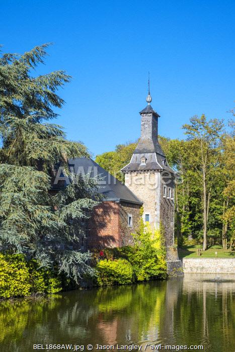 Belgium, Waloon Region (Wallonia), Liege Province. Chateau de Jehay Castle.