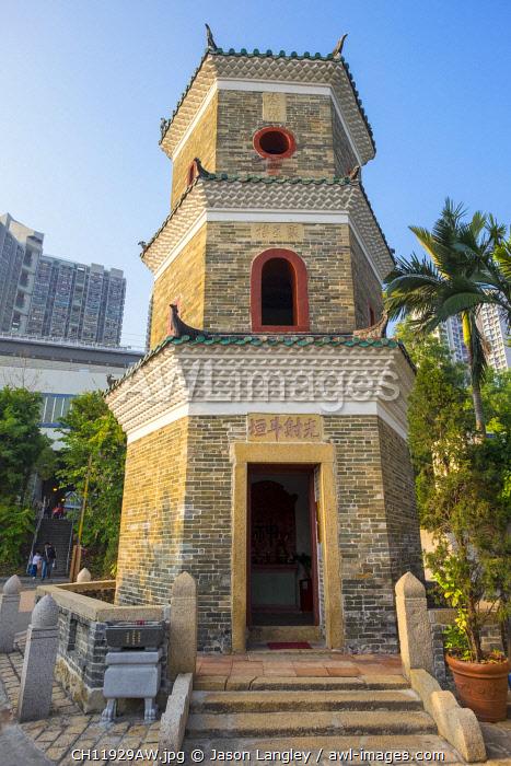 Tsui Sing Lau Pagoda at Ping Shan Heritage Trail, Yuen Long District, New Territories, Hong Kong, China