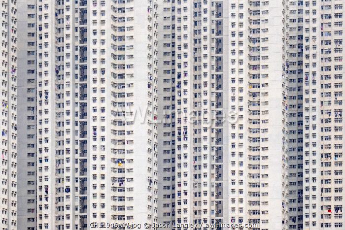 Public housing apartment block towers in Tseung Kwan O, Sai Kung District, New Territories, Hong Kong, China