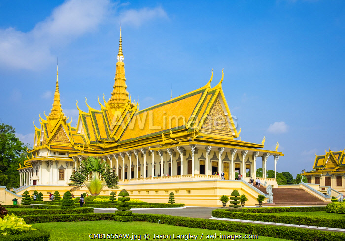 Throne Hall (Preah Thineang Dheva Vinnichay) of the Royal Palace, Phnom Penh, Cambodia