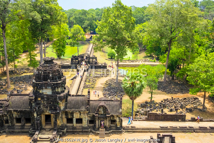 Baphuon temple ruins, Angkor Thom, UNESCO World Heritage Site, Siem Reap Province, Cambodia