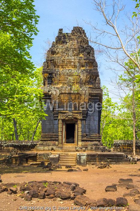 Prasat Neang Khmau at Koh Ker temple ruins, Preah Vihear Province, Cambodia