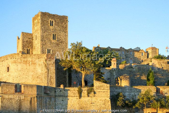 Château Royal de Collioure, Pyrénées-Orientales, Languedoc-Roussillon, France.