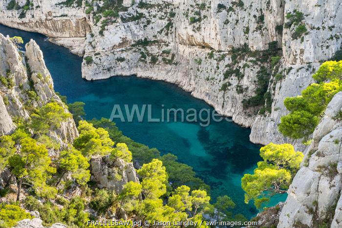 Calanque d'En-Vau, Parc National des Calanques, Bouches-du-Rhône, Provence-Alpes-Côte d'Azur, France.