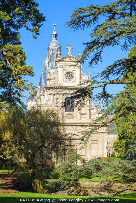 Small chapel of Eglise Saint Vincent in Jardin Augustin Thierry, Blois, Loire-et-Cher, Centre, France.