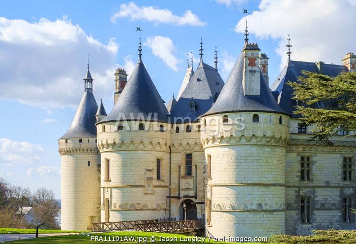 Château de Chaumont castle, Chaumont-sur-Loire, Loire-et-Cher, Centre, France.