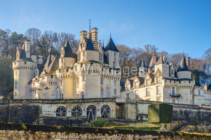 Château d'Ussé castle, Rigny-Ussé, Indre-et-Loire, Centre, France.