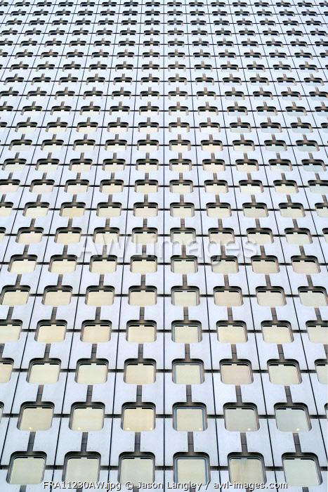 Windows of high-rise office building in La Défense business district, Paris, Île-de-France, France.