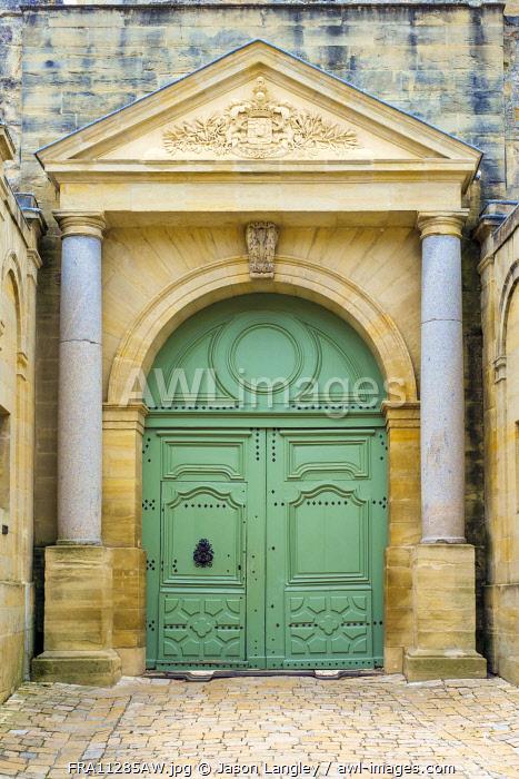 Entrance to Château du Duché castle, Uzès, Gard Department, Languedoc-Roussillon, France