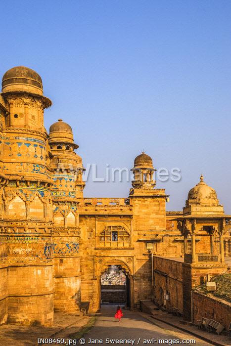 India, Madhya Pradesh, Gwalior, Gwalior Fort, Man Singh Palace, Elephant Gate (Hathiya Paur)