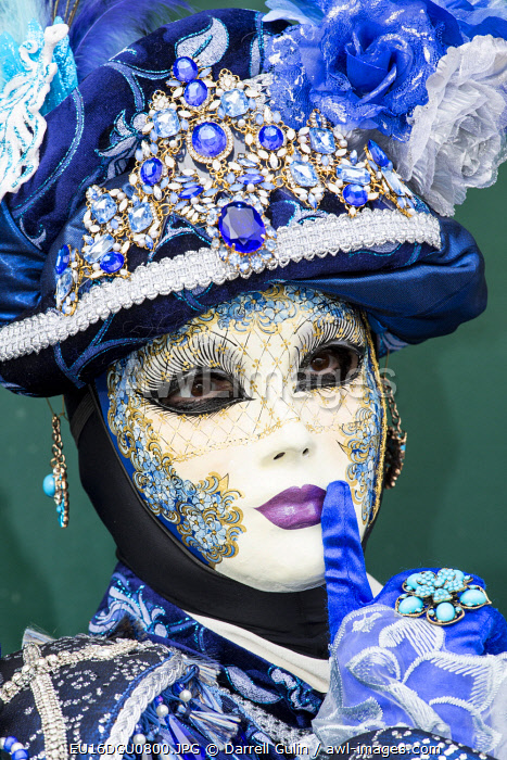 Venice, Italy. Carnival with models dressed in costumes and masks