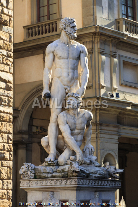 Italy, Florence. Hercules statue.