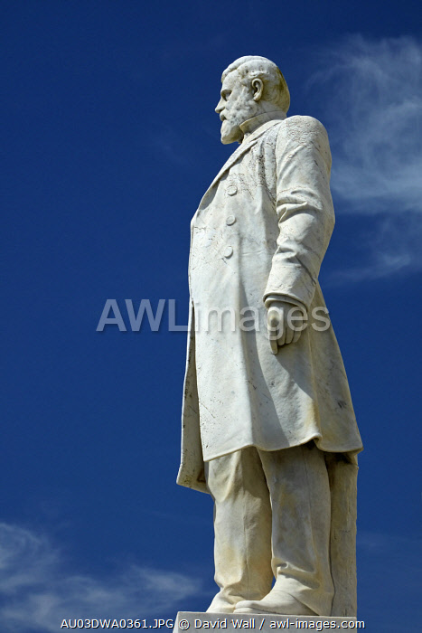 Statue of Richard Seddon, Hokitika, West Coast, South Island, New Zealand