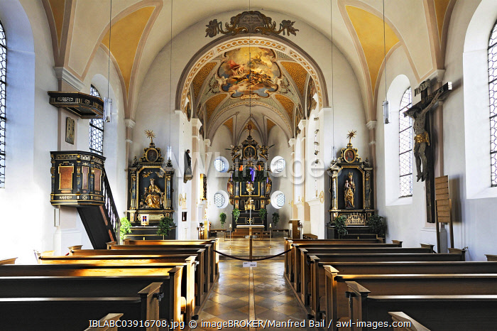 Parish Church of St. Peter, Siegertsbrunn, Upper Bavaria, Bavaria, Germany, Europe