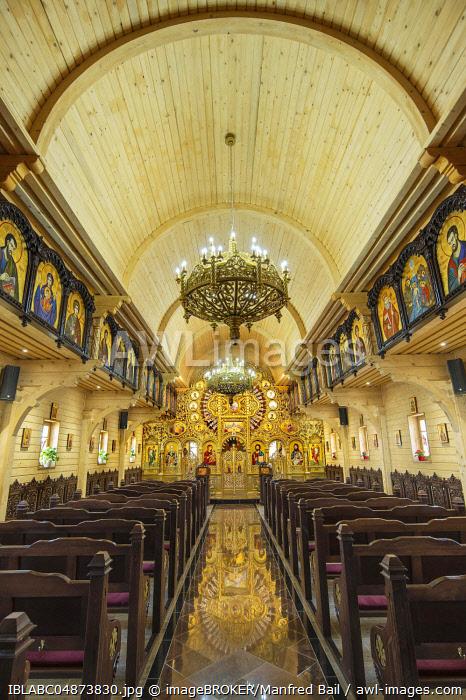 Interior, Romanian Orthodox Parish, Parohia Buna Vestire, Munich, Upper Bavaria, Bavaria, Germany, Europe