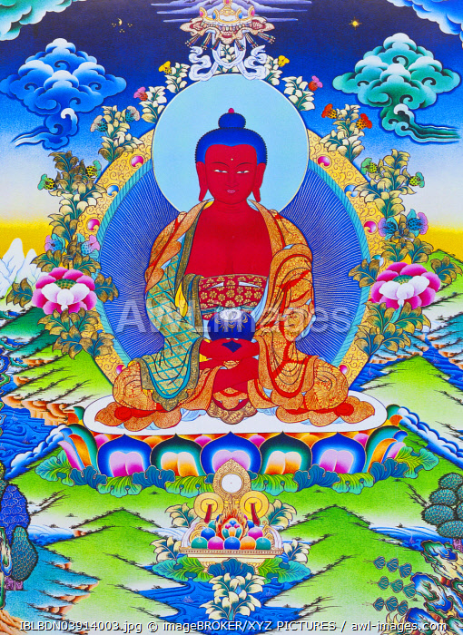 Amitabha Buddha seated on a lotus, Nepal, Asia
