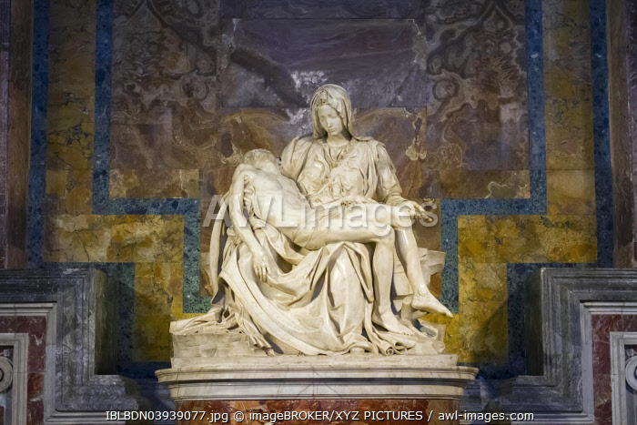 Pieta by Michelangelo, St. Peter's Basilica, Vatican City, Rome, Italy, Europe